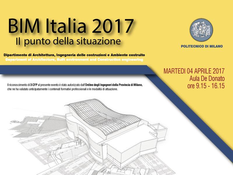 Bim italia 2017 il punto della situazione eventi del for Master polimi