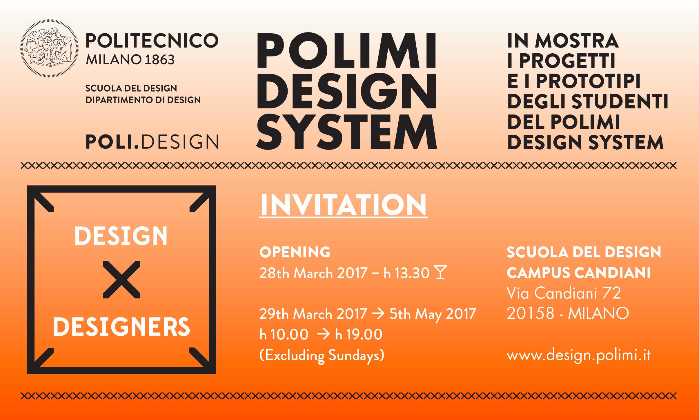 Design x designers eventi del politecnico di milano for Scuola del design polimi