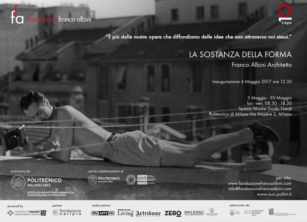 La sostanza della forma eventi del politecnico di milano for Franco albini architetto