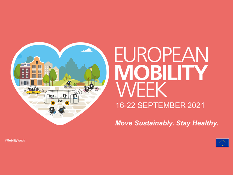 European Mobility Week - 16-22 september 2021: Move Sustainably. Stay Healthy.